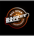 basketball modern professional sport typography vector image vector image