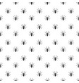 black detail realistic spider insect pattern on vector image