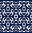 blue and white moroccan motif tile pattern