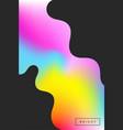 bright rainbow colors vector image