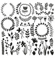 bullet journal hand drawn elements for notebook vector image