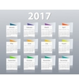 Calendar 2017 year design template vector image vector image