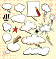 Cartoon comical actions vector image vector image