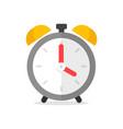 clock alarm icon flat cartoon modern symbol vector image vector image