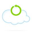 Cloud Computing Icon Reload vector image