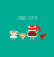coffee dripper funny device for brewing coffee vector image vector image