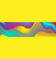 colorful liquid waves abstract banner design vector image vector image