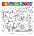 coloring book santa claus theme 4 vector image vector image