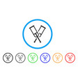 crutches rounded icon vector image vector image