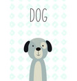 cute dog for posters cards banners t-shirts vector image