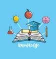 education school knowledge and utensils design vector image vector image