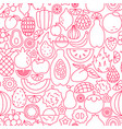 exotic fruit line seamless pattern vector image