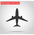 Flat design plane icon with shadow vector image