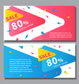 flat linear promotion ribbon banners price tags vector image