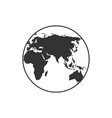 globe earth line icon sign on white background vector image