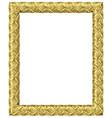 golden classic baroque frame vector image vector image