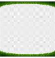 green grass frame transparent background vector image vector image