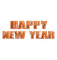 happy new year with gingerbread coockies vector image
