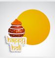 hindu festival holi background vector image vector image