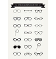 Hipster Retro Vintage Glasses Icon Set vector image