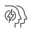 human resource line icon mind power vector image vector image