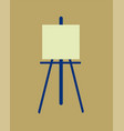 icon easel flat design symbol vector image vector image