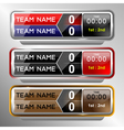 icons scoreboard template vector image vector image