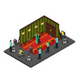 isometric movie production concept vector image vector image
