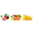 label set for juicy drinks or summer cocktails vector image vector image