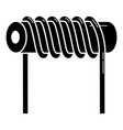 magnetic metal spring icon simple style vector image vector image