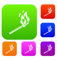 match flame set collection vector image vector image