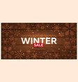 merry christmas and happy new year winter sale vector image