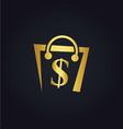 money bag dollar gold logo vector image vector image