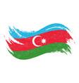 national flag of azerbaijan designed using brush vector image vector image