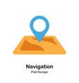 navigation flat icon vector image vector image