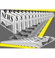 newspaper printing vector image