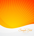 orange sunburst background vector image vector image