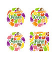 organic label set vector image vector image