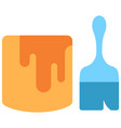 painter flat icon vector image