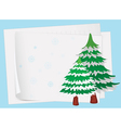 paper sheets and a christmas tree vector image vector image
