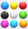 realistic color blank circle button badge set vector image vector image