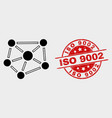 relations icon and distress iso 9002 seal vector image vector image