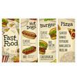restaurant or cafe menu best burger hotdog vector image vector image