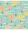 retro seamless travel pattern balloons vector image vector image