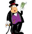 rich man in a tuxedo vector image