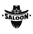 saloon texas hat logo simple style vector image