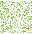 seamless pattern with hand drawn green branches vector image vector image