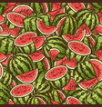 seamless watermelon bright summer pattern vector image
