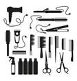 set for hair salon vector image