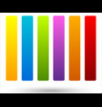 set of 6 colorful vivid button banner backgrounds vector image vector image